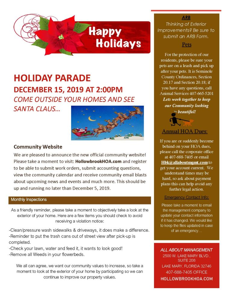 2019 Holiday Flyer